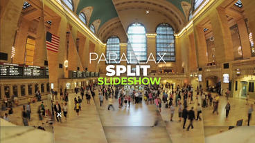 Parallax Split Slideshow After Effects Template