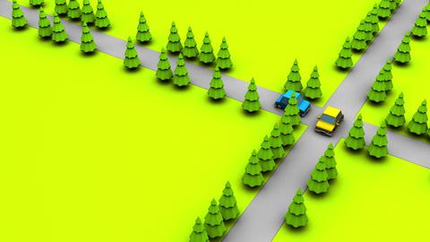 Moving car CG動画素材