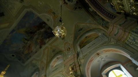 Panning of Ceiling of the Church Uzhhorod Footage