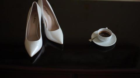 Bride dresses wedding shoes Footage