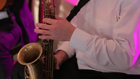 The Musician Playing the Saxophone Footage