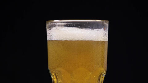 Fresh Beer in a Glass Stock Video Footage