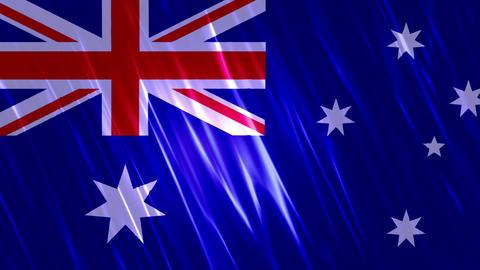Australia Flag Loopable Background Animation