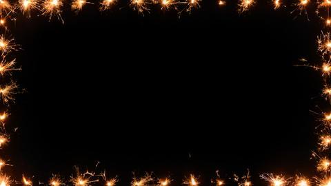 Frame of sparklers HD 30fps 25s PNG alpha matte Live Action