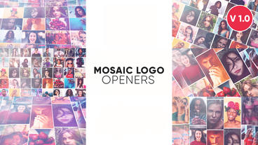 Mosaic Logo Openers Premiere Pro Template