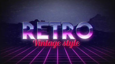 Retro Title Motion Graphics Template