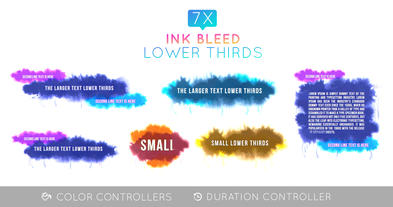 Ink Bleed Lower Third Pack Plantilla de After Effects