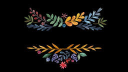 Floral Wreath Set (8) Animation