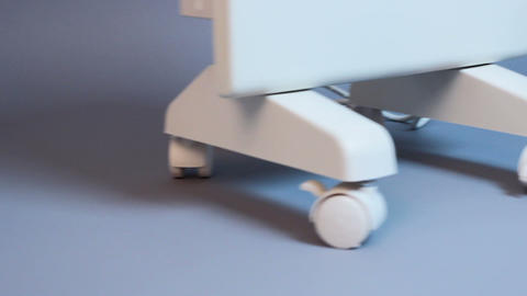 Closeup of medical ultrasound appliance, special therapeutic treatment equipment Live Action