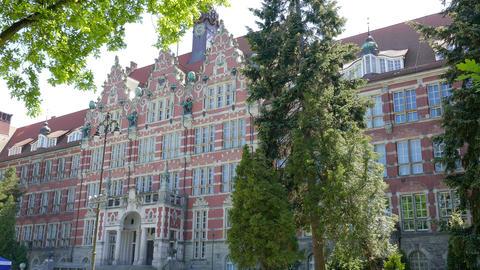 GDANSK, POLAND. The Gdansk University of Technology Main Building 영상물