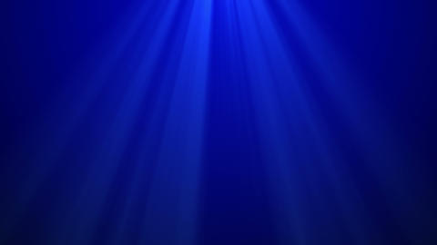 Volume lights ray on blue background looped for copyspace Animation