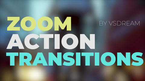 Zoom Action Transitions Premiere Pro Template