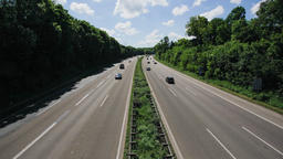 Autobahn on a Summer Day Time-lapse Stock Video Footage