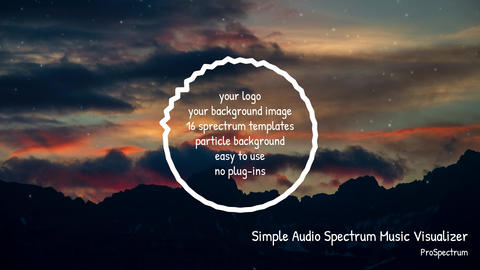 Simple Audio Spectrum Music Visualizer template After Effects Template