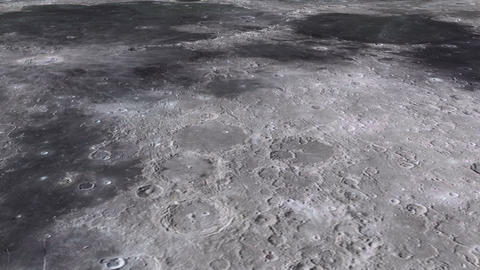 The travel of the camera on the surface of the moon in high quality ビデオ