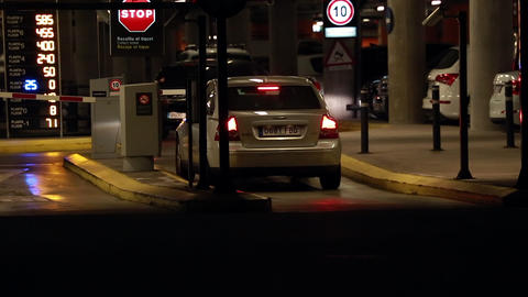 Car Entering Parking Garage GIF