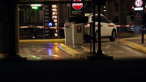SUV Entering Parking Garage GIF