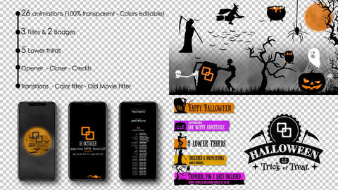 Halloween Kit After Effects Template