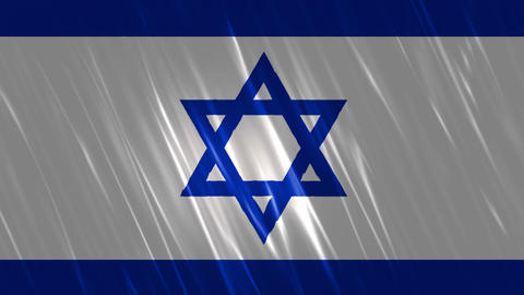 Israel Flag Loopable Background Animation