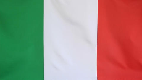 Fabric National Flag Of Italy stock footage