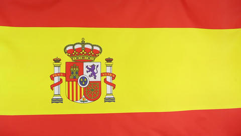 National flag of Spain Footage