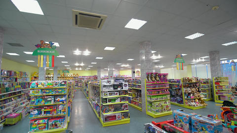 Toys on The Shelves at the Store Footage