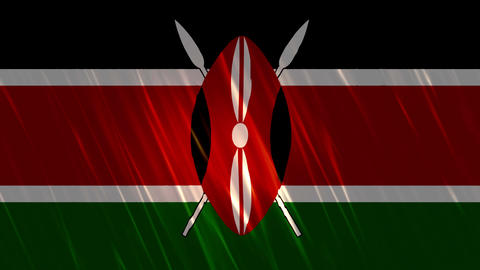 Kenya Flag Loopable Background Animation