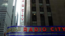 New York City 704 5th Avenue & Radio City Music Hall in Rockefeller Center Footage