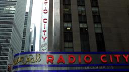 New York City 704 5th Avenue & Radio City Music Hall in Rockefeller Center Footage