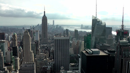 New York City 706 south Manhattan from Rockefeller Center rooftop Footage