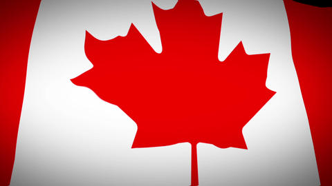 Waving Flag Of Canada stock footage