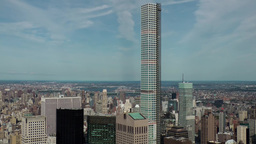 New York City 709 skyscraper 432 Park Avenue from Rockefeller Center Footage
