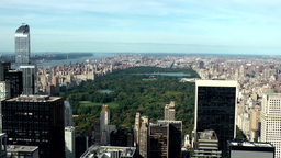 New York City 719 Central Park & uptown seen from Rockefeller Center Footage
