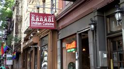 New York City 733 Indian Restaurant In Greenwich Village stock footage