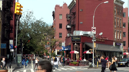 New York City 757 Greenwich Village 7th Ave West 4th Street Footage
