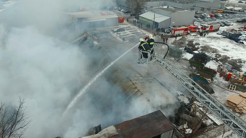 Firefighters at work Footage