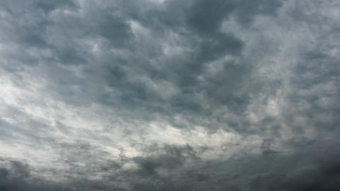 Professional 4k time lapse of gray stormy clouds, no flicker, no birds Footage