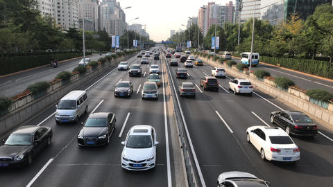 Beijing Morning Rush Hour Footage