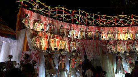 Night footage of Durga Puja Pandal, Kolkata, West Bengal, India GIF