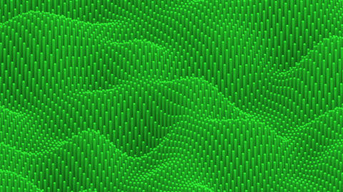 Waving surface with rounded green cylinders animation background GIF