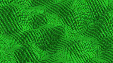 Waving surface with glossy green cubes animation background Animation