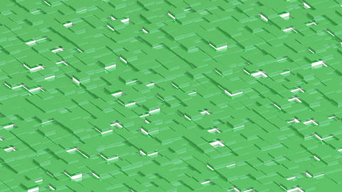Waving surface with green cubes with lights animation background GIF