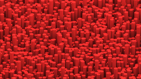 Surface with red cylinders animation background GIF