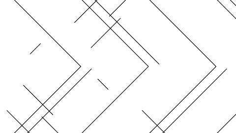 Abstract Line right angle pattern moving black color, on white background Animation