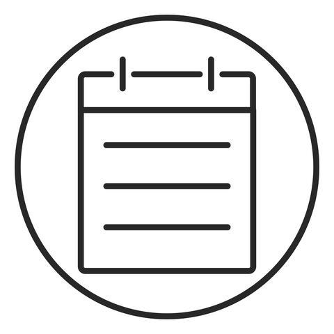Note stroke icon, logo illustration. Stroke high quality symbol Photo