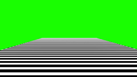 black and white lines motion animated on green screen background Animation