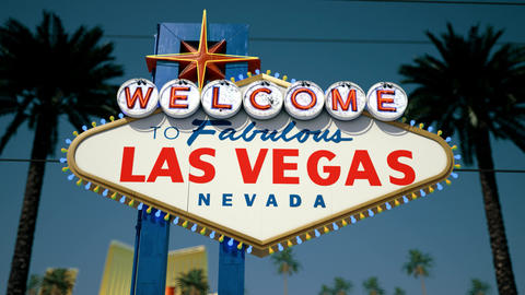 Las Vegas Sign - Daytime Fast Tilt, Up2Down Stock Video Footage