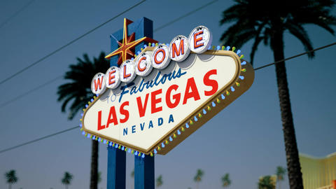 Las Vegas Sign - Daytime Crash Pan Right2Left Animation