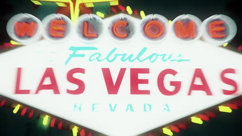 Las Vegas Sign - Nighttime Centered Crash Zoom Animation