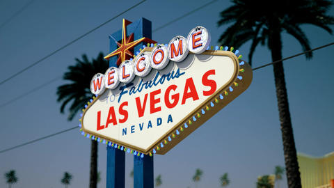 Las Vegas Sign - Daytime Right Side Crash Zoom Stock Video Footage